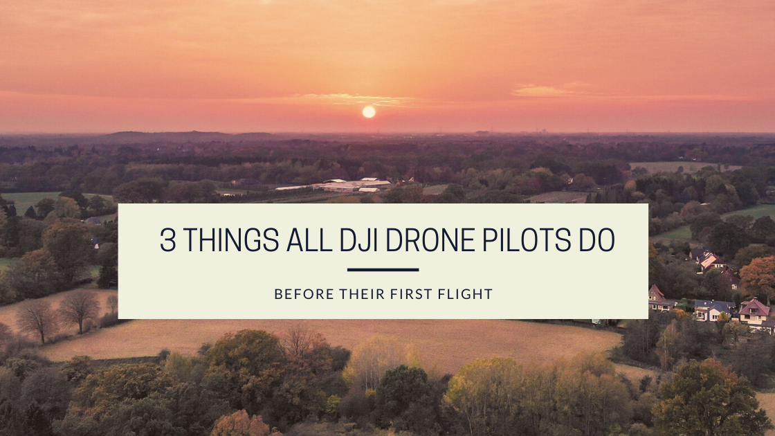 This is the featured image for drone photography bible article '3 things all drone pilots do before their first flight' It is over a sunset over Hamburg Germany.